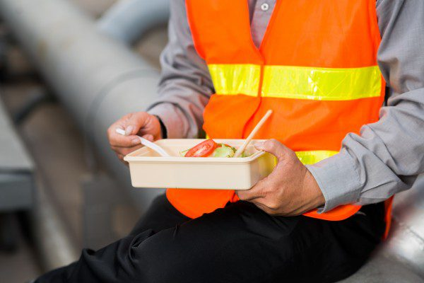Construction workers most likely to eat all their meals at work